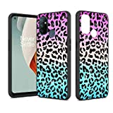 Shinewish Cell Phone Case for OnePlus Nord N100,3D Printed Leopard Print with Glitter Powder TPU Hybrid Shockproof Bumper Case, Gradient