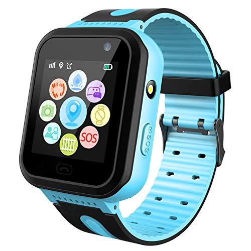 Kids Smart Watch GPS Tracker impermeabile - Orologio da polso da bambino Orologio digitale da polso SOS Alarm Clock Torcia Elettrica Orologio Età 3-12 Ragazzi Ragazze Regali
