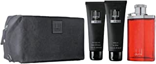 dunhill Desire Red gift set for Men 100ml Edt, after shave balm 90ml, shower gel 90ml and bag