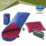 skandika Erwachsene Dundee Decken-Schlafsack, Qualität, Baumwolle/Flanell Innenfutter mit Sleepyhead Kopfkissen