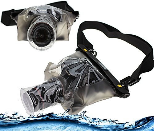 Navitech Schwarze wasserdichte Unterwassergehäuse Kasten/Beutel-trockener Beutel für dasSony Alpha A6500
