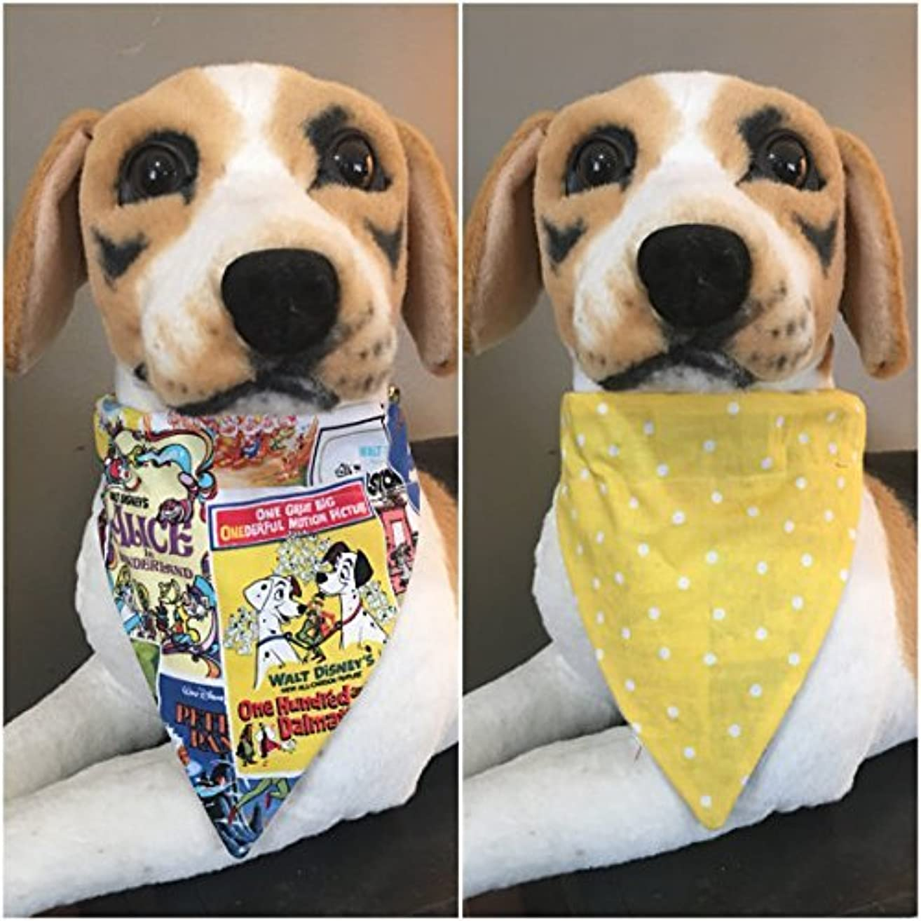 Disney Reversible Pet Bandana Cartoon Movie Covers Over The Collar