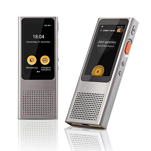 Langogo Minutes Online Übersetzer Sprachübersetzer, 100+ Sprachen unterstützt, Voice Translator Diktiergerät mit echtzeiter Übersetzung und Texttranskriptionen, 2,45 Zoll Touchscreen, WLAN benötigt
