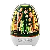 HaavPoois Nachtlicht Bluetooth-Lautsprecher, 3D-Glas Touch Control...