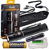 Fenix PD36R 1600 Lumen USB rechargeable CREE LED tactical Flashlight, E01 V2 mini flashlight with EdisonBright charging cable carry case Gift bundle