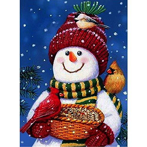 Xinlie Santa Claus Snowman Cross-Stitch Embroidery Craft Christmas Series 5D Diamond Painting Kits Snowman DIY Diamond Painting Set 5D Snowman Santa Claus Crystal Rhinestone Embroidery Art Craft