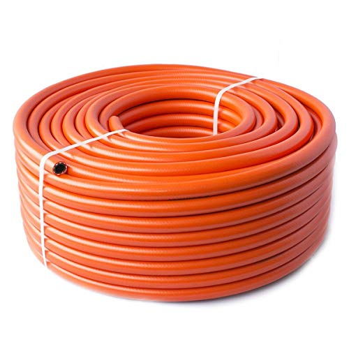 Quantum Garden Haute Pression GPL Propane Butane Calor Tuyau de 9 mm, Orange, 5 m