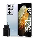 Samsung Smartphone Galaxy S21 Ultra 5G, Caricatore incluso, Display 6.8' Dynamic AMOLED 2X, 5 fotocamere, 512 GB, RAM 16GB, 5000mAh, Dual SIM+eSIM, (2021) [Versione Italiana], Argento (Phantom Silver)