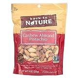Back to Nature Trail Mix, Non-GMO Cashew Almond Pistachio Blend, 9 Ounce...
