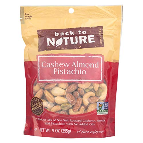 Back to Nature Trail Mix, Non-GMO Cashew Almond Pistachio Blend, 9 Ounce
