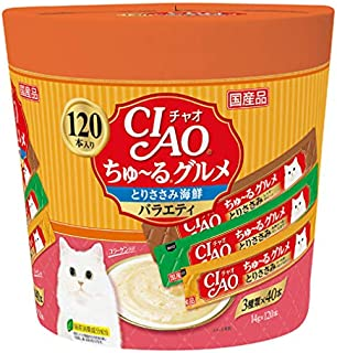 Ciao SC-213 Chicken Seafood Cat Treat 120-Piece Variety Pack, 1680 g