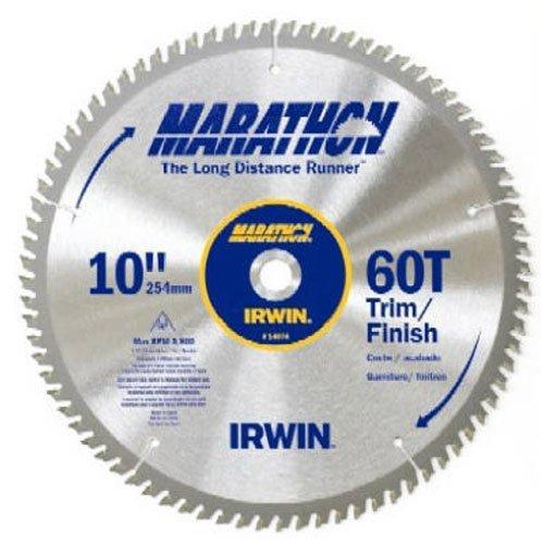 IRWIN Tools MARATHON Carbide Table / Miter Circular Blade, 10-Inch, 60T (14074)
