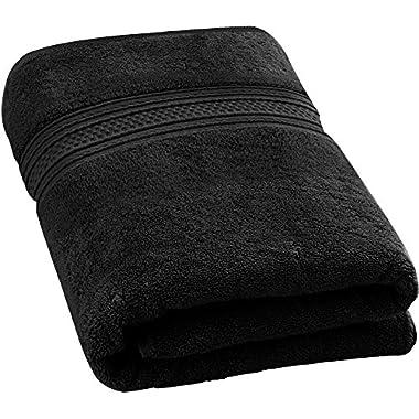 Utopia Towels 700 GSM Premium Cotton Extra Large Bath Towel (35 x 70 Inches) Soft Luxury Bath Sheet - Black