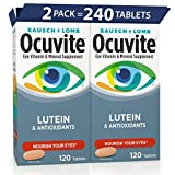 OCUVITE LUTEIN & ANTIOXIDANTS: This eye supplement from Bausch + Lomb contains Lutein as well as other nutrients that are important to healthy eyes, including Vitamin A, Vitamin C, Vitamin E, Zinc, Selenium & Copper. Eye Nutrition for Today. OCUVITE ...