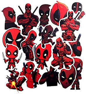 4 Long Lasting Sticker Pegatina DECAL Officially Licensed Marvel Extreme Artwork Classic DEADPOOL Head Shot