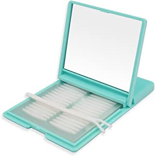 240Pairs/480PCS Women Clear Portable Breathable Naturally Invisible Single Sided Double Eyelid Tape Self-Adhesive Eyelid Stickers Instant Eye Lift Strips With Y Fork and Packing Box (Narrow Style)
