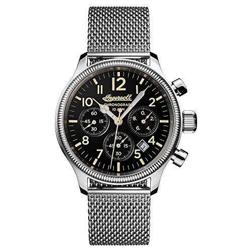 Ingersoll Herren Analog Quarz Uhr mit Edelstahl Armband I02901