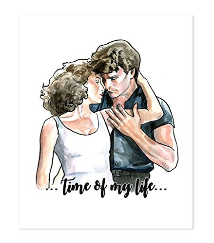 AtoZStudio A43 Dirty Dancing Inspired Wall Art Home Decor Poster Print - Patrick Swayze - Jennifer Grey - Classic Romantic Movie - Portrait Artwork Picture Painting (8x10)