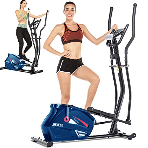ANCHEER Under Desk Elliptical Cycle,Pedal Exerciser,Under Desk Bike Machine with Built in Display Monitor, Mini Desk Cycle Resistance Exercise Quiet & Compact. Electric Machine Trainer