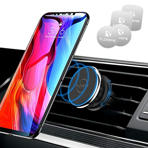 FLOVEME Porta Cellulare da Auto Magnetico Smartphone Supporto Cellulare 360 Gradi di Rotazione Universale Porta Telefono Corsa Auto per iPhone SE 2020 11 PRO XR XS x 8 7 Plus Samsung Huawei Xiaomi