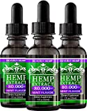3 Pack Hemp Oil 80.000MG. Anxiety Reducer. Pain Relief. Natural Sleep Aid. Weight Management .with Natural Mint Flavor. (3)
