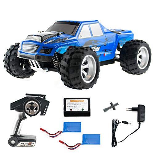 efaso WL Toys A979 blau - schneller RC Monstertruck 50 km/h schnell, wendig, voll digital proportional - 2.4 GHz RC Auto mit Allradantrieb - Maßstab 1:18, hoher Fun Faktor - inkl. 2 Akkus