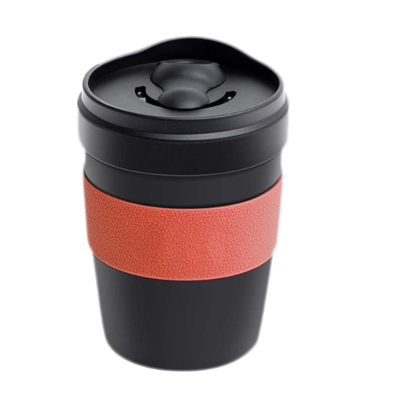 ベーシック皮肉な動的YAYAコーヒーカップステンレススチールカップオフィスコーヒースモールカップポータブルアメリカンスタイル付属カップ88mm * 112mmオレンジ