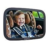 Mapalou Rücksitzspiegel für Babys aus bruchsicherem Material, Auto Rückspiegel für Kindersitz und Babyschale, 360° schwenkbar, Kinder Autospiegel in optimaler Größe, Spiegel ohne Einzelteile, Rücksitz