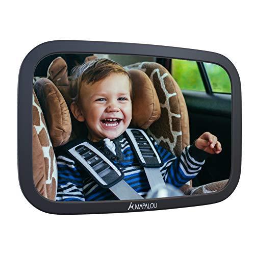 Rücksitzspiegel für Babys aus bruchsicherem Material, Auto Rückspiegel für Kindersitz und Babyschale, 360° schwenkbar, Autospiegel in optimaler Größe, Spiegel ohne Einzelteile, Rücksitz, Kinder