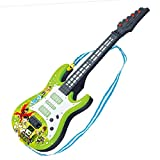 HYMAN Guitarra para niños, 4 Cuerdas Guitarra Eléctrica Instrumento Musical de Juguete para Principiantes, 53 x 18 x 4 cm