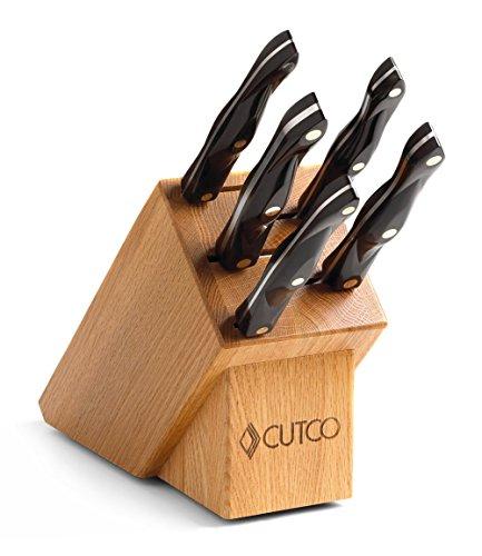 Cutco Gourmet-Set in Eichenholzblock (schwarz) #1803