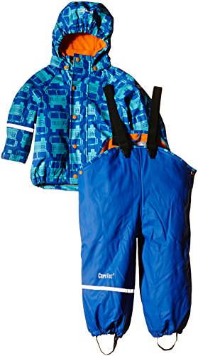 CareTec Kinder wasserdichte Regenlatzhose und -jacke im Set (verschiedene Farben), Blau (Sea Blue 706), 128