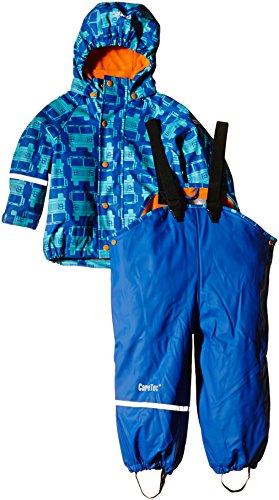 CareTec Kinder wasserdichte Regenlatzhose und -jacke im Set (verschiedene Farben), Blau (Sea Blue 706), 98