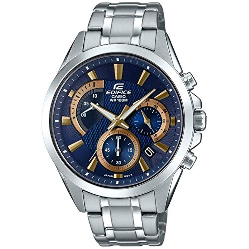 Casio Herren Chronograph Quarz Uhr mit Edelstahl Armband EFV-580D-2AVUEF
