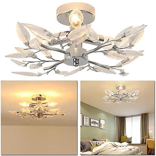 Yzibei Schijnwerper voor buiten, acryl-blad-armen, plafondlamp, led, voor woonkamer, slaapkamer, kamer, verlichting, verlichting