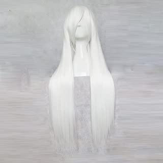 VOCALOID Yowane Haku White 80CM Long Cosplay Wig + Free Wig Cap