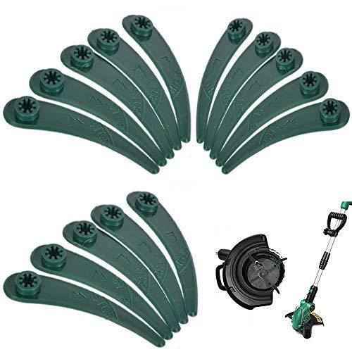 50 Stück Kunststoff-Trimmer-Ersatzklingen,Ersatzmesser für Rasenmäher,für Bosch Art 26-18Li, Art 23-18 Li-Gras-Trimmer Ersatzmesser Klingen Rasentrimmer Kunststoffmesser