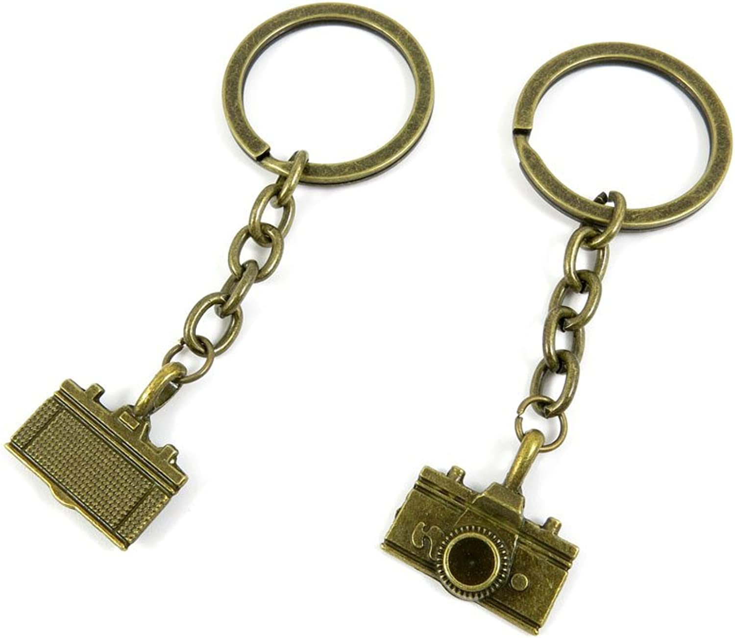 100 PCS Keyrings Keychains Key Ring Chains Tags Jewelry Findings Clasps Buckles Supplies B1RK4 Camera