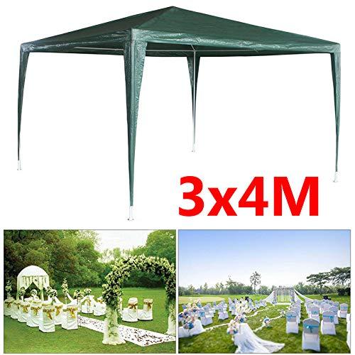 Garden Gazebo 3 x 3 m Waterproof UV Protection 50+ Folding Gazebo Garden Tent Party Tent with Powder-Coated Steel Frame High Performance Sun Protection Gazebo Foldable Canopy Green