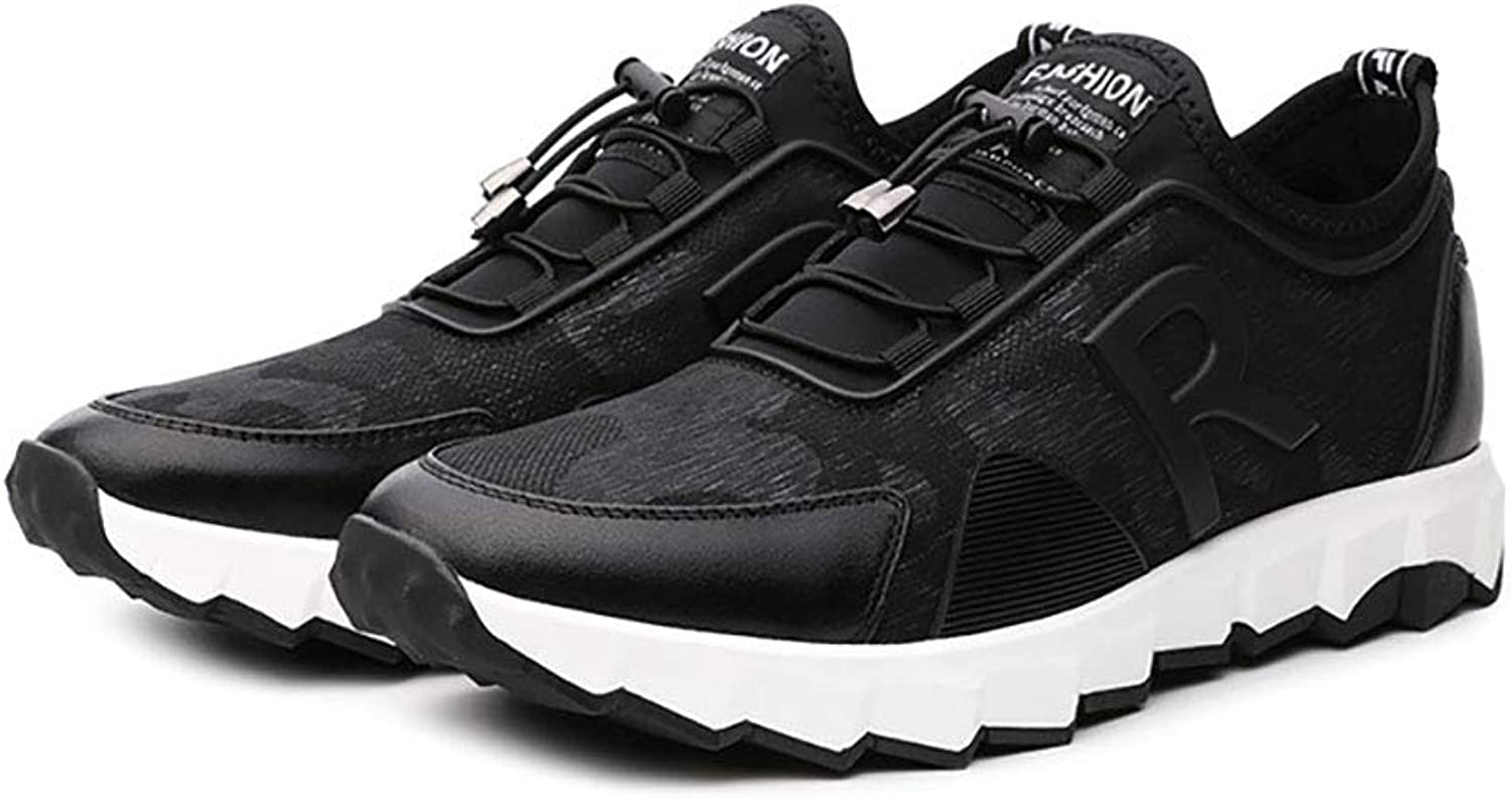 Spring Fall Men's shoes,Comfort Breathable Outdoor Exercise Sneakers,Mens Casual Running shoes,Trainers Fitness Casual Sports Black (color   Black-40)
