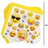 Kompanion 81-teiliges Party-Set Emoji Kindergeburtstag Partydekoration - Pappteller, Tassen, Servietten, Tischdecke und Bonus Emoji Aufkleber, Geburtstagsfeier Zubehör für 20 Kinder - 2