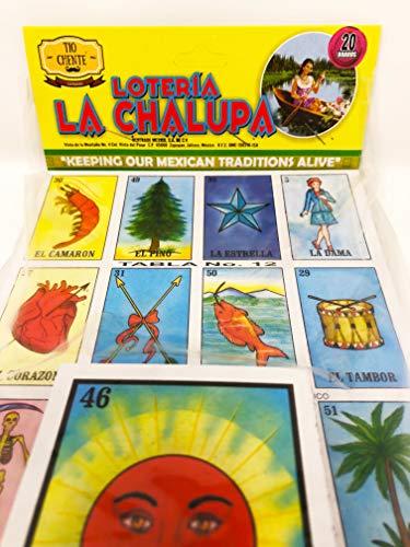 La Chalupa's Loteria Mexican Bingo Board Game by Tio Chente