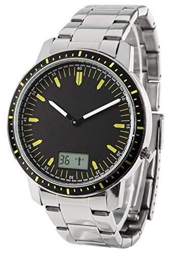 Funk-Armbanduhr, Edelstahl, mit Datum + Sekundenanzeige