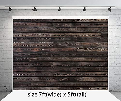 Vintage Brick Wall Photography Backdrop Old Wooden Door Photo Background for Photoshoot Photo Booth Props 6.5x10ft 200x300cm