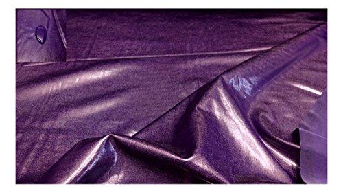 Fabrics-City % VIOLETT BI-ELASTISCH GLANZJERSEY WASSERABWEISEND STOFF STOFFE, 2968