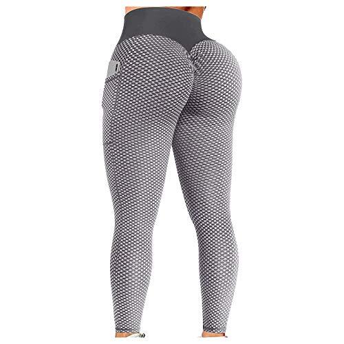 Surttan Damen Sport Leggings Slim Fit Hohe Taille Sportleggins Kompressions Push Up Lange&Cropped Leggings mit Bauchkontrolle Fitnesshose Lifting Sport Tights Yoga Pants