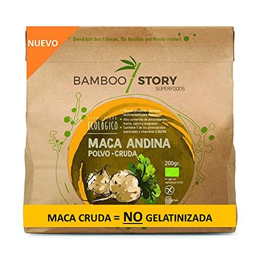 NUEVO - Maca Andina, 100% Peruana en Polvo, Cruda, Pura, Ecológica, Bio 200gr BAMBOO STORY/Organic Maca Powder bio BAMBOO STORY
