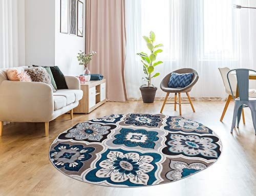 Generations Panal and Diamonds 8' Round Area Rug  $29 at Amazon