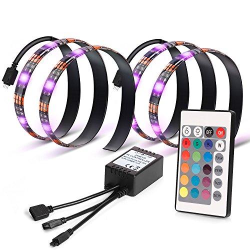 Kohree 2M 5V RGB LED HDTV バックライト テープライト コントローラー付き 疲れ目対策 視力保護 フラットテレビLCD/PC 3年安心サービス