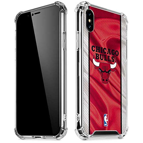 Skinit Clear Phone Case Compatible with iPhone Xs Max - Officially Licensed NBA Chicago Bulls Away Jersey Design